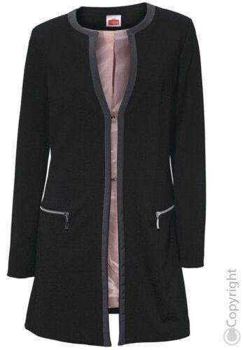 NUOVO Gehrock longblazer Cappotto Corto 34 36 38 40 42 46 Travel Couture BLACK 161304