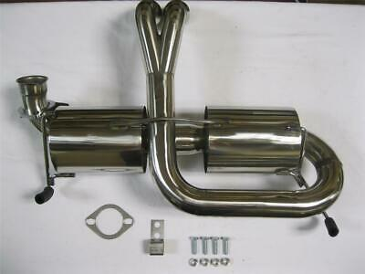 "DUAL 3/"" TIP RACING CATBACK+HEADER MANIFOLD EXHAUST FOR 00-05 MR2//MRS W30 1ZZ-FED"