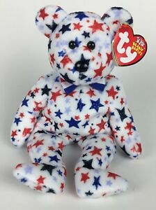 MWMT Bear 2002 Ty Beanie Baby Red white /& blue Patriotic