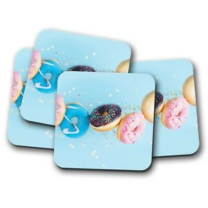 4-Set-Colourful-Doughnuts-Coaster-Sprinkles-Donuts-Food-Sweets-Gift-15279