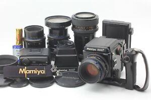 Nuovo-di-zecca-corpo-4-LENTE-Mamiya-RZ67-Pro-II-110mm-Turno-75-AE-Camino-L-Grip-etc-Giappone