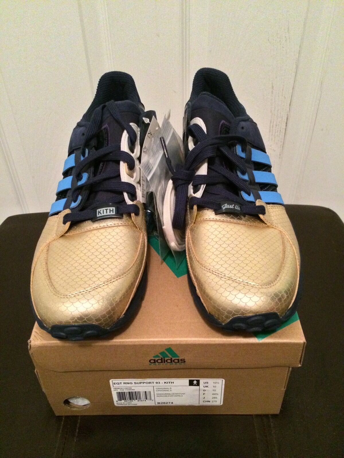 Ronnie Fieg x Adidas Consortium EQT Ring Support 93 Kith NYC's Bravest Sz 10.5