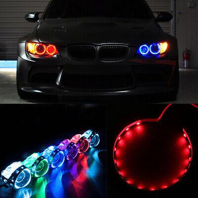 Possbay Car Light 15 LED Devil Eyes Demon Eye Red Headlight Front Lamp Projector 12V Ring 2 PCS