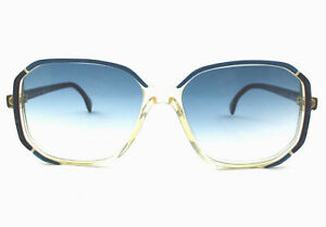 bc5683e1dd Dettagli su occhiale da sole Silhouette vintage donna M.1219/20  blu/trasparente/celeste/C2