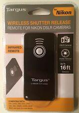 Targus Wireless Shutter Release - Infrared Remote For Nikon DSLR Cameras - NEW