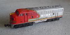 Vintage N Scale Trix W Germany Santa Fe 510 Locomotive