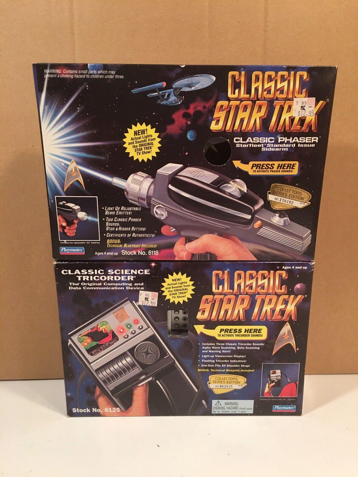 Playmates classeeic estrella Trek Phaser (Type  II) & Tricorder both MISB  ottima selezione e consegna rapida
