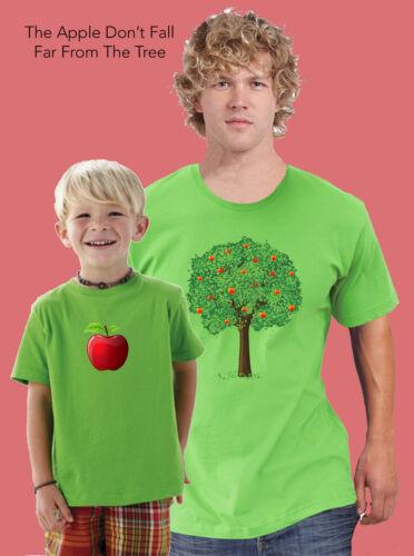 La pomme ne tombe jamais loin de l/'arbre-père et fils Combo Tees