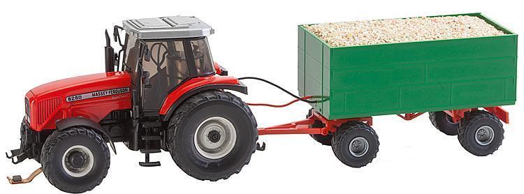 Faller 161588Mf Tractor con Hackschnitzel-Anhänger (Wiking)  Nuevo en Emb.