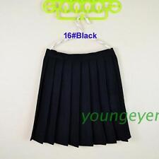 Japanese School Girls Solid Pleated Mini Uniform Skirt Cheerleader Sailor Dress