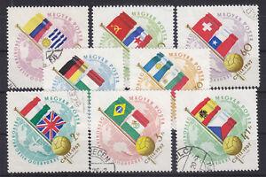 Ungarn-1962-Mi-1830A-1837A-034-Fussball-WM-in-Chile-034-gestempelt