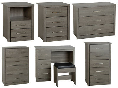 Lisbon Bedroom Furniture Range In Black, Black Wood Bedroom Furniture