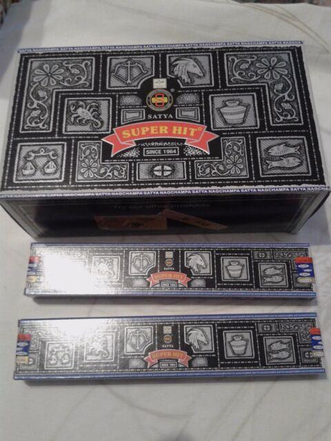 pack de 12 satya  super hit   15 g por 12 boxes