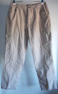 Duluth Trading Co Cargo Pants Womens 14x33 (Act Length 32) Tan Khaki 100% Cotton