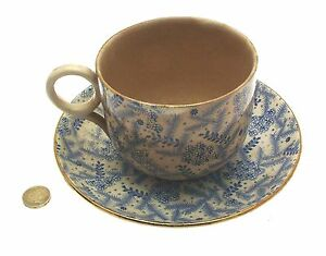 Antique-Breakfast-Cup-and-Saucer-Staffordshire-Blue-and-White-c1880