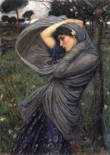 John William Waterhouse Boreas 1903 Needlepoint Canvas Print