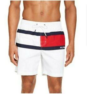 Tommy-Hilfiger-Mens-Designer-Board-Shorts-Swim-Trunks-White-Size-S-M-L-XL-119