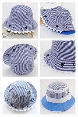 Kids Toddler Sun Hats 3-5yrs Boy Girl Summer Cotton Bucket Fisherman Floopy Caps