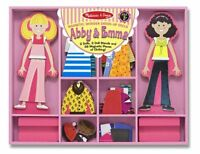 Melissa And Doug Abby And Emma Deluxe Magnetic Dress-up Set , New, Free Shipping
