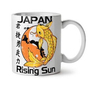 Rising Sun Japan Koi NEW White Tea Coffee Mug 11 oz | Wellcoda