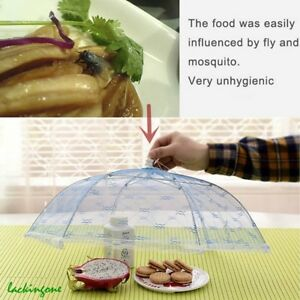 New-Food-Cover-Tent-Umbrella-Collapsible-Cake-Covers-Lace-Mesh-Net-Insect-Fold