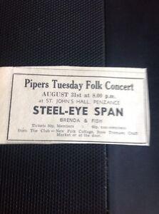 H7-1-Ephemera-1971-Advert-Penzance-Steeleye-Span-Folk-Concert