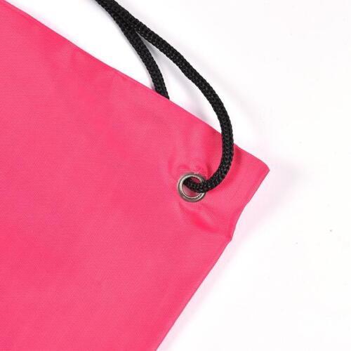 Drawstring Shoulder Bags Gym Sports Backpack Rucksack School Storage Bag Sack SK