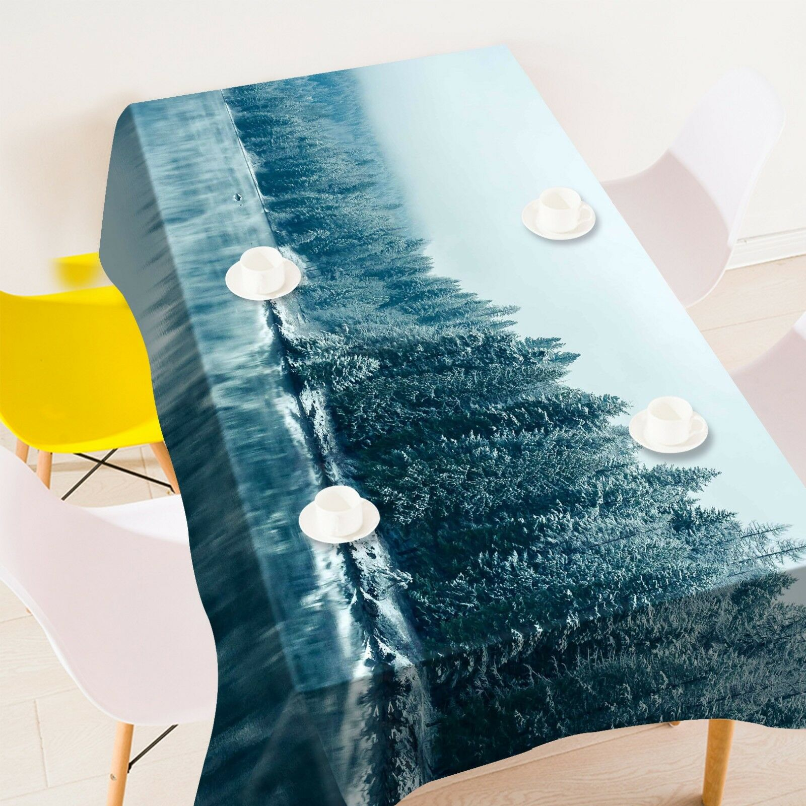 3D Pine River 0142 Tablecloth Table Cover Cloth Birthday Party Event AJ Summer