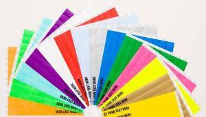 """250 Plain Neon Yellow 1/"""" Tyvek Papier Bracelets pour événements Fêtes festivals"""