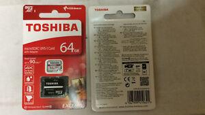 MicroSD-Toshiba-64GB-4KVIDEO-90MB-s-U3-M302-Class10-SDXC-UHS-I-EXCERIA-Adattator