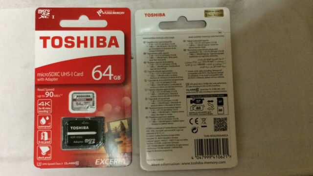 MicroSD Toshiba 64GB 4KVIDEO 90MB/s U3 M302 Class10 SDXC UHS-I EXCERIA+Adattator