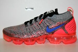 f3bb85435f6 AUTHENTIC NIKE AIR VAPORMAX FLYKNIT 2 White Hot Punch Blk 942843 104 ...
