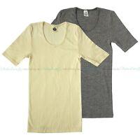 Cosilana Damen Kurzarm Unterhemd Wolle Seide Baumwolle T-Shirt Hemd Bio Öko