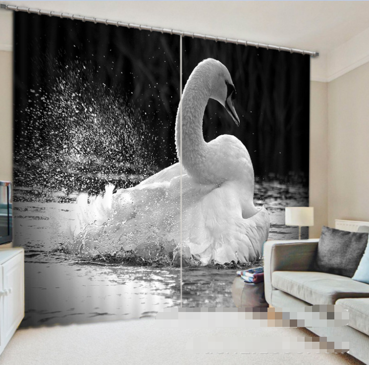 3D Image Sawn Blockout Photo Curtain Printing Curtains Drapes Fabric Window CA