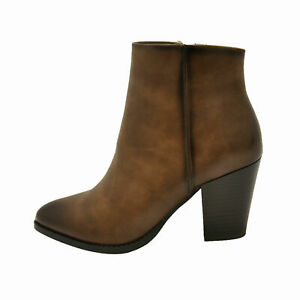 Details about  /Pierre Dumas CANDRA-2 Tan Women/'s Casual Chunky Heel Ankle Booties 89921