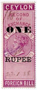 I-B-Ceylon-Revenue-Foreign-Bill-1R-on-2R-25c-OP-Second