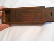 Vintage S. W. Card Manufacturing Co. Wooden Box