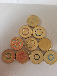 Collection of 10 Different Coloured $2 coins