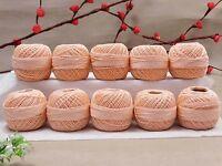 Knitting Lot Of 10 Pcs Cotton Thread Anchor Crochet Tatting Embroidery Ball Yarn