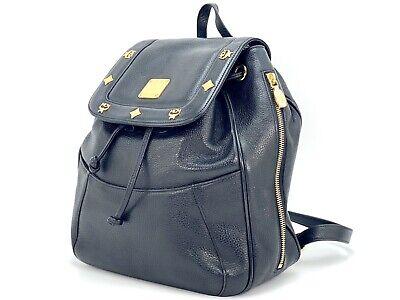 MCM Rucksack Small Backpack schwarz Leder Tasche Shopper