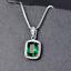 Damen-Halskette-Silber-925-Smaragd-Amethyst-Edelstein-Kette-Silber-mit-Anhaenger Indexbild 13