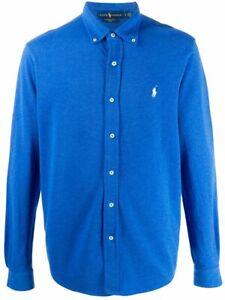 Ralph-Lauren-Men-039-s-Featherweight-Mesh-Shirt-Blue-Size-Small-42-034-Chest