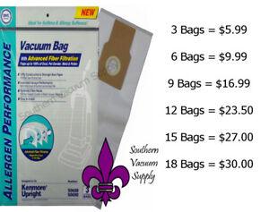 10 BAGS 50688 Kenmore U Upright Vacuum Bags 5068 50690 U