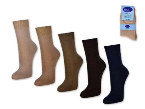 10 bis 60 Paar Damensocken 100/% Baumwolle Business Damen Socken Beige Braun Blau