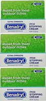 Benadryl Extra Strength Anti_itch Cream 1oz Tubes (3 Pack)