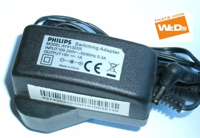 PHILIPS SWITCHING ADAPTER AY4132/05 9V 1A UK PLUG