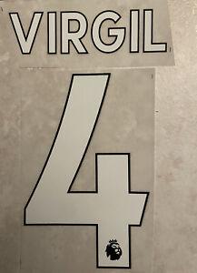 Flocage Nameset VIRGIL # 4 Liverpool Home . Premiere League. Domicile