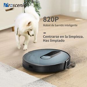 Proscenic-Alexa-Robot-Aspirador-suelos-duros-alfombras-Limpieza-mapeo-navegacion