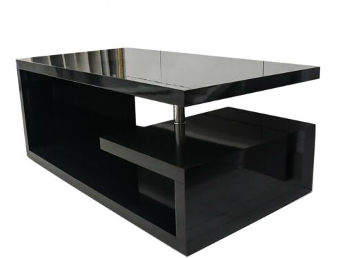 Elegance Designer Square Coffee Table Black High Gloss Finish!!Free Delivery!!