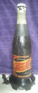 "Vintage 1940s Pepsi Cola Bottle Radio 23 1/2"" Tall Double Dot logo #320 Working!"